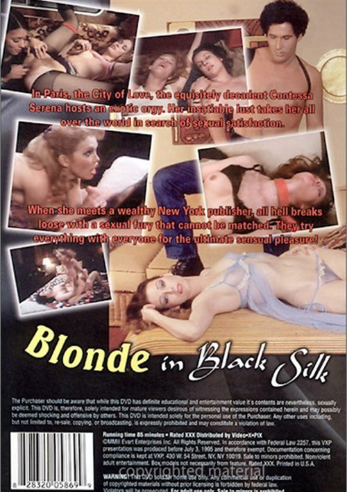 Blonde in Black Silk